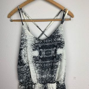 Vintage USA Open Back American Abstract Jumpsuit